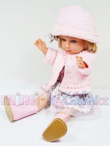 Panenka s dlouhými vlásky Arias Charlota v růžovém 36 cm