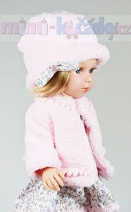Česací panenka Arias Charlota v růžovém kloboučku