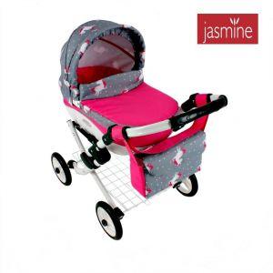 Dětský kočárek pro panenky Jasmine Kids Jednorožec S