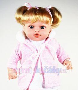 Mluvící panenka realistická Arias Ema v růžovém 33 cm