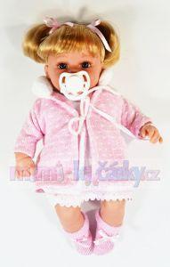 Mluvící panenka realistická Arias Ema v růžovém