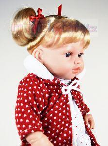 Mluvící realistická panenka Arias Ema v červeném