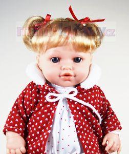 Plačící realistická panenka Arias Ema v červeném