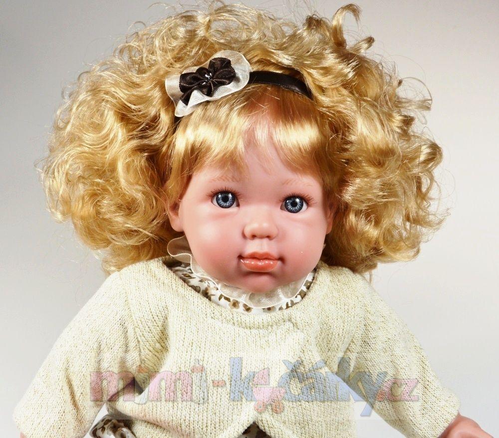 Mluvící, realistrická panenka s dlouhými vlasy Arias Danielka 38 cm