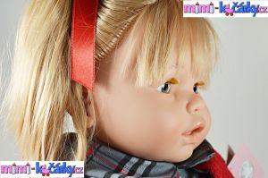 Velká mluvící panenka Berbesa Dulsone červený svetřík 62 cm