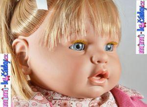 Mrkací panenka Berbesa Dulsone růžový svetřík 62 cm