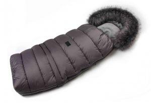 Zimní fusak s kožíškem - šedá