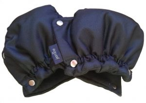 Rukavice na kočárek UNI černé jasmine
