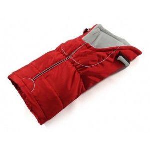 Zimní fusak do kočárku červená barva