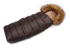 Zimní fusak s kožíškem - hnědá
