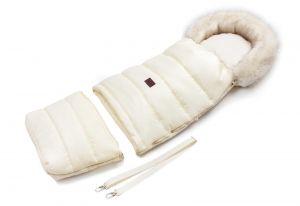 fusak na zimu s kožíškem krémová světlá barva