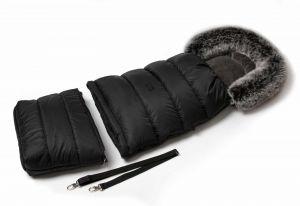 Zimní fusak s kožíškem - černá JASMINE