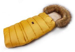 Zimní fusak s kožíškem - medová