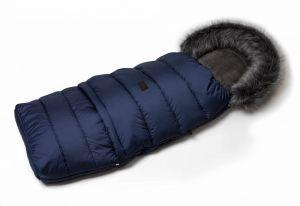 Zimní fusak s kožíškem - modrá