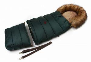 Zimní fusak s kožíškem - smaragdová