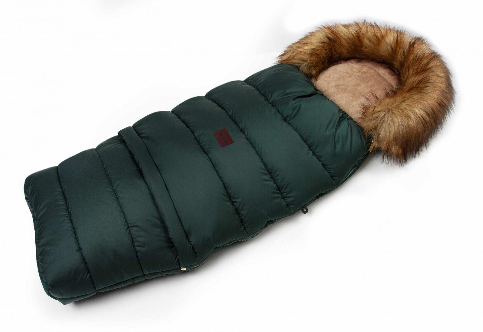 Zimní fusak s kožíškem - smaragd