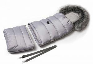 Zimní fusak s kožíškem - světle šedá JASMINE