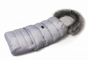 Zimní fusak s kožíškem - světle šedá